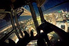nighttime in a crane...