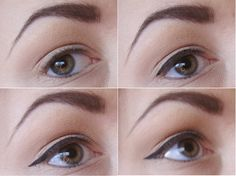 eyeliner for small hooded eyes - Google Search