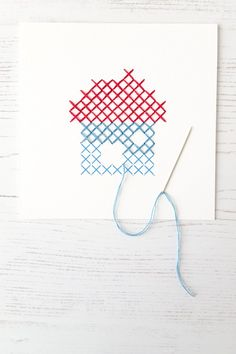 Cross stitch on paper