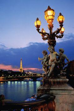 Paris; Alexandre III Bridge Amazing Paris  http://www.travelandtransitions.com/our-travel-blog/paris-2012/