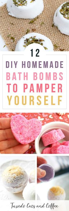 Did you know you can actually make your own bath bombs at home with just a few ingredients? Here's how to make 12 DIY homemade bath bombs to pamper yourself, or how to make homemade DIY Lush bath bombs. Diy Hanging Shelves, Diy Wall Shelves, Galaxy Bath Bombs, Homemade Bath Bombs, Bath Bomb Recipes, Soap Recipes, Lush Bath Bombs, Rainbow Sprinkles, Mason Jar Lighting