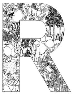 Alphabet Animal Coloring Pages R