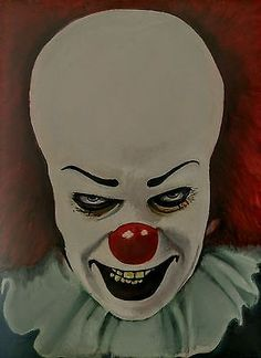 pennywise oil painting, Stephen King's It, oil on canvas