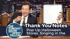 Thank You Notes: Pop-Up Halloween Stores, Singing in the Shower - YouTube