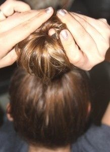 sock bun! I did this today :P