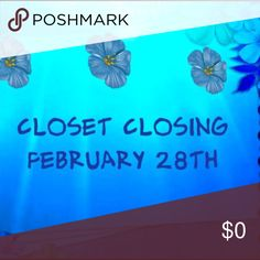 Everything Must Go 🦋This closet will be closing February 28,2017🦋 Other