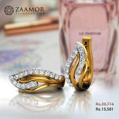 Rhiannon Diamond Earrings Diamond Earrings Indian, Indian Jewelry Earrings, Bali Jewelry, Weird Jewelry, Jewelry Design Earrings, Gold Earrings Designs, Gold Rings Jewelry, Antique Earrings, Hoop Earrings