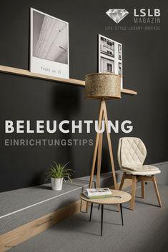 Lighting – Your living room in good light LSLB magazine - Beleuchtung Tripod Lamp, Place Card Holders, Living Room, Lighting, Design, Home Decor, Magazine, Boho, Scandinavian Lamps