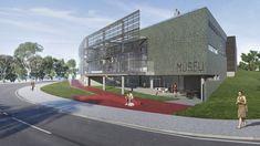 Anexo do Museu de Arte da Pampulha,Perspectiva Renderizada da Entrada. Image Cortesia de Horizontes Arquitetura e Urbanismo