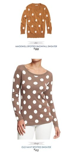 COPY CAT CHIC FASHION FIND | MADEWELL SPOTTED SNOWFALL SWEATER