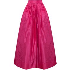 MARTIN GRANT Long Taffeta Ball Skirt ($1,006) ❤ liked on Polyvore featuring skirts, long skirts, pleated maxi skirt, pink maxi skirt, long maxi skirts, maxi skirt and long ankle length skirts