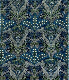 Lewis Foreman Day, Upholstery fabric, 1880. Cotton. Turnbull & Stockdale, Great Britain. Museum of Applied Arts, Budapest