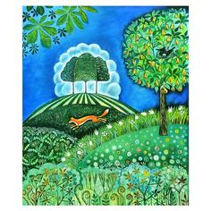 Nicolette Carter - Fox Landscape, Limited Edition Print, Unframed, 30x42cm