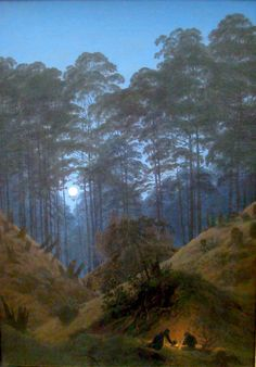 The Heart of the Forest in Moonlight by Caspar David Friedrich 1840 Oil on Canvas (Alte Nationalgalerie)