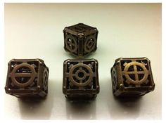 Steampunk d6 Fudge 4d6 Set