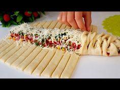 СЕМЬЯ БУДЕТ В ВОСТОРГЕ! НЕРЕАЛЬНО ВКУСНЫЙ ПИРОГ-ПИЦЦА /ИДЕАЛЬНОЕ ТЕСТО КАК ПУХ/ГОТОВИМ С MAZZALI - YouTube Dinner Rolls, Pasta Salad, Cooking Recipes, Ethnic Recipes, Food, Youtube, Noodle, Vape Tricks, Kitchens