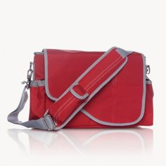 Red Sailcloth Family Electronics Bag 15""