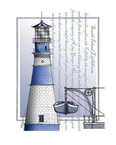 blue lighthouse i