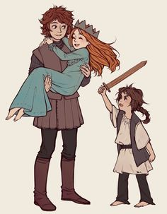 Robb, Sansa and Ayra from StarPatches
