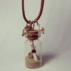 #necklace #littlebottle #sand