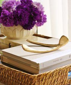 Large Gold Wishbone
