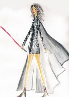 The Imperial March Louis Vuitton SS15 Look 47 LBD dress illo on theillustrienne.com