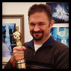 """Darrin Butters and his Oscar for """"Frozen""""(2013)"""