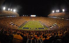 Night game at Death Valley. LSU a great spot for a Sports Power Weekend experience. Contact: Jared.Cooper@SPWtravel.com.