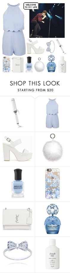 """Meeting Shawn Mendes"" by rocklikeachampion ❤ liked on Polyvore featuring T3, Miss Selfridge, Nly Shoes, Oscar de la Renta, Deborah Lippmann, Casetify, Yves Saint Laurent, Marc Jacobs and Fresh"