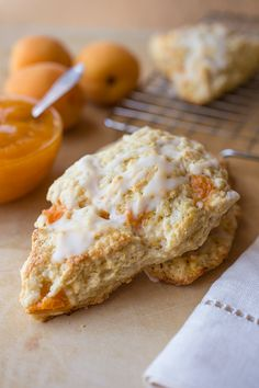 Summertime Lemon-Apricot Scones with Sweet Buttermilk Glaze and Homemade Apricot Jam