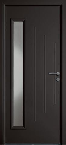 Porte entr e acier impala de couleur gris anthracite ral for Porte zilten cotim 11