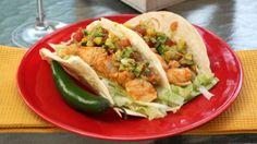 Fish Tacos with Corny Guac.
