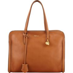 Alexander McQueen Skull Padlock Zip-Around Tote Bag, Tan ($1,545) ❤ liked on Polyvore featuring bags, handbags, tote bags, tassen, alexander mcqueen, handbags totes, purse tote, man bag, handbags purses and zip tote bag