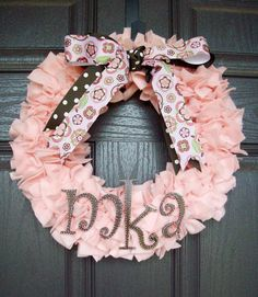 Initial Wreath. $35.00, via Etsy.