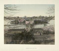 Kusakabe, Kimbei -- Photographer:  Shinobadzu (Pond) Uyeno Tokio.  Albumen prints -- Hand-coloured ca. 1890
