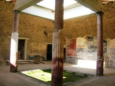 Atrium of Villa San Marco The villa,that is one of the largest in Campania, is located in ancient port city of Stabiae near Pompeii. In was discovered in the middle of the 18th century. Source: By Mentnafunangann (Own work) [GFDL (http://www.gnu.org/copyleft/fdl.html) or CC-BY-SA-3.0-2.5-2.0-1.0 (http://creativecommons.org/licenses/by-sa/3.0)], via Wikimedia Commons