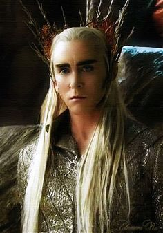 """{Thranduil - If he looked at me like this, I would say to him """"Dungeons?  Will you put me in your dungeons and keep me? Please?""""} - I would too @Susan Carroll!"""
