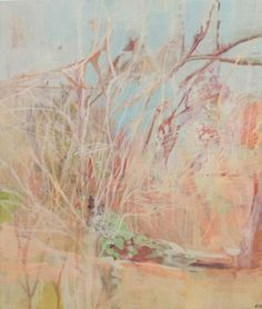 Angela Briggs, Bush and picnic rock, Kruger (2015) Oil on canvas 45 x 38cm