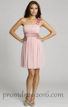Online Pink One Shoulder Bridesmaid Dresses [PD201600626] - $139.99 : Prom Dresses | Prom Dresses 2016