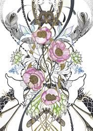 art nouveau flowers - Google Search