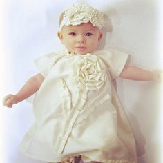 Hey, I found this really awesome Etsy listing at https://www.etsy.com/listing/74632505/baby-baptism-dress-shabby-chic-plain