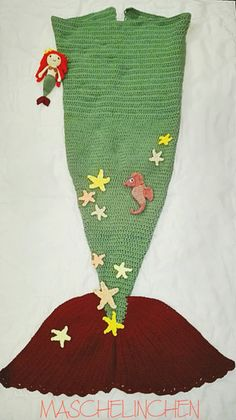 Strickanl Meerjungfrauen Decke Mit Farbverlauf No148 Strick