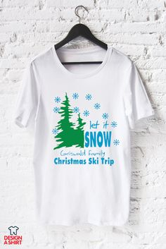 d743eef9fa3c Add your family name to make this Christmas family ski trip t-shirt design  your