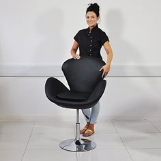 Black Leather Style Beauty Salon Hairdresser Chair, Barber chair - http://thisissnews.com/black-leather-style-beauty-salon-hairdresser-chair-barber-chair-4/
