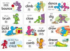 Learn Chinese Vocabulary in an Easy Way - Verbs Part 2 Basic Chinese, Chinese Words, Chinese English, Mandarin Pinyin, Learn Cantonese, Chinese Pinyin, Learn Chinese Characters, Chinese Alphabet, Mandarin Language