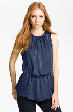 Vince Camuto Pleated Blouson Top available at #Nordstrom