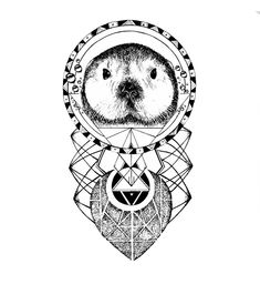 The Sea Otter tattoo design by Miletune