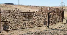 Oklahoma iron Artist using old farm tools-Joe Smith~~ I want this!!!