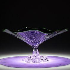 Violet Art glass