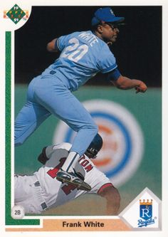 Random Baseball Card #4197: Frank White, second baseman, Kansas City Royals, 1991, Upper Deck.